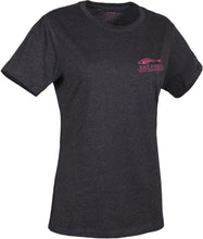 Load image into Gallery viewer, Women'S Eat Fish Logo T-Shirt in Heather Charcoal- Pink color