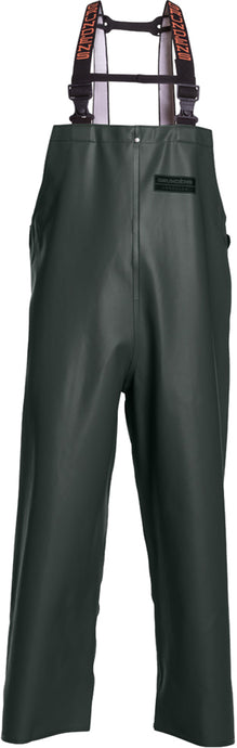 Herkules Tall 16 Bib Pant in Green color from the front view