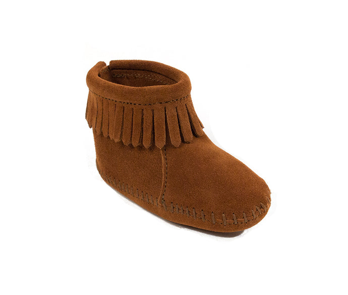Infant's Minnetonka Back Flap Boot Brown in Brown