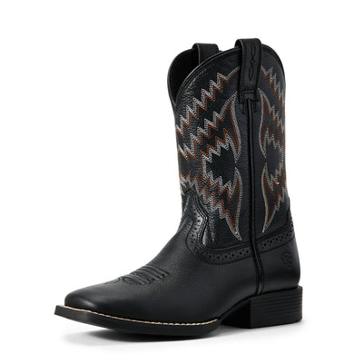 Kids' Ariat Tycoon Western Boot in Bear Black