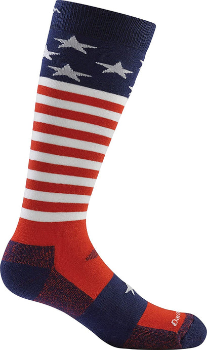 Kid's Darn Tough Captain Stripes Jr. OTC Lightweight Sock in Stars And Stripes