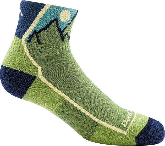 Kid's Darn Tough Hiker Jr. 1/4 Lightweight with Cushion Sock in Green