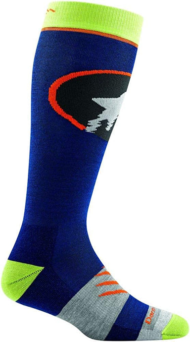 Kid's Darn Tough Powderhound OTC Midweight with Cushion Sock in Eclipse