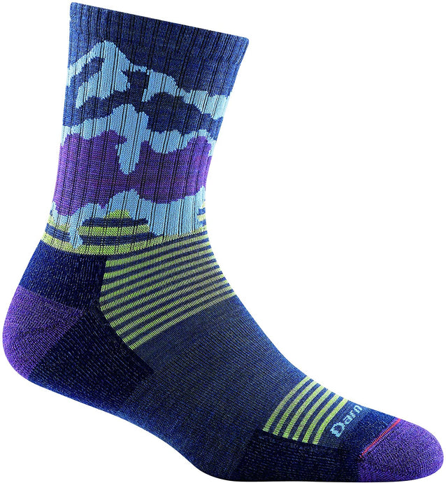 Kid's Darn Tough Three Peaks Jr. Micro Crew Lightweight with Cushion Sock in Denim