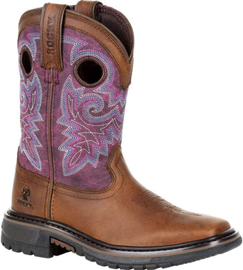 Big Kid's Rocky RKW0302Y Original Ride FLX Western Boot in Brown
