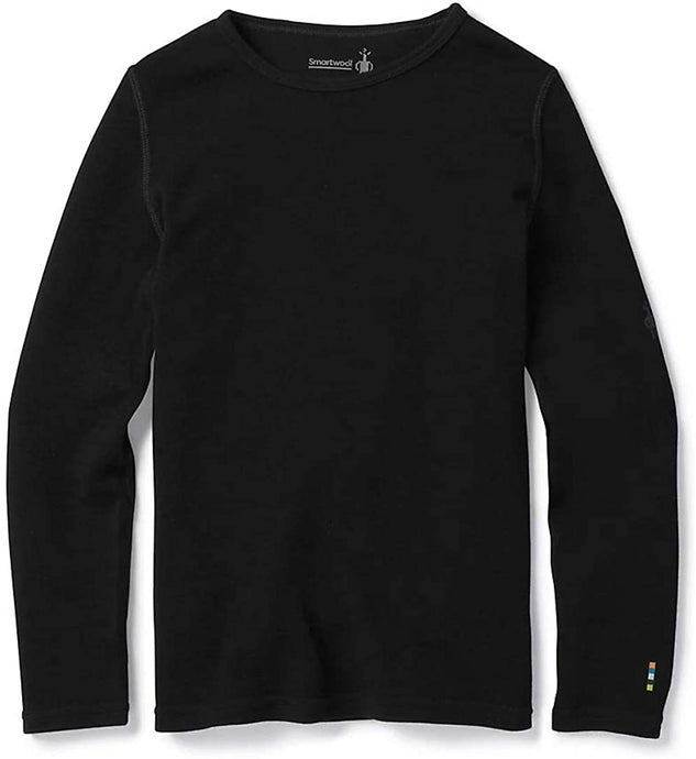 Kid's Smartwool Kids' Merino 250 Baselayer Crew in Black