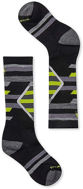 Kids' Smartwool Ski Racer Socks in Black from the front view