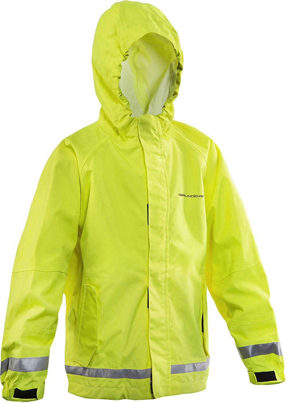 Kids Weather Watch Jacket in Hi Vis Yellow color from the front view