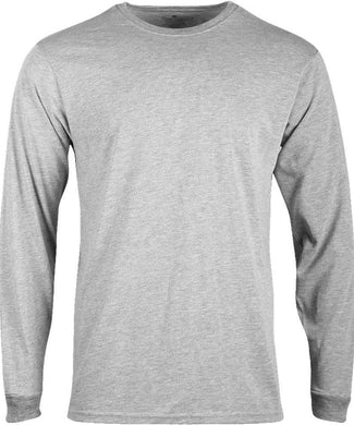 Long Sleeve Tech T-Shirt in Athletic Grey color from the front view