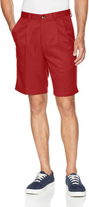Haggar Men's Cool 18 Regular Fit Pleated Front Short