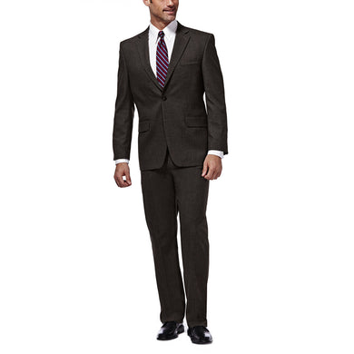 Men's Haggar J.M. Premium Stretch Classic Fit Suit Separate Jacket in Chocolate from the front view