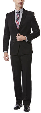 Men's Haggar Travel Performance Straight Fit Suit Separates Jacket in Black from the front view