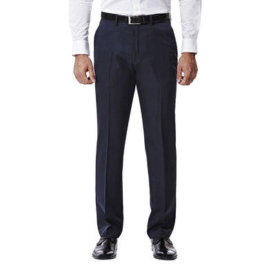 Men's Haggar Travel Performance Straight Fit Suit Separates Pant in Navy from the front view