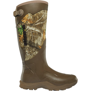 "LaCrosse Men's Alpha Agility 17"" Waterproof Hunting Boot in Realtree Edge from the side"