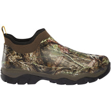 "Load image into Gallery viewer, LaCrosse Men's Alpha Muddy 4.5"" 3.0mm Waterproof Outdoor Boot in Mossy Oak Break-up Country from the side"