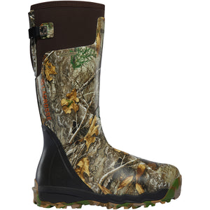 "LaCrosse Men's Alphaburly Pro 18"" Waterproof Hunting Boot in Realtree Edge from the side"