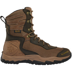 "LaCrosse Men's Windrose 8"" Waterproof Hunting Boot in Brown from the side"