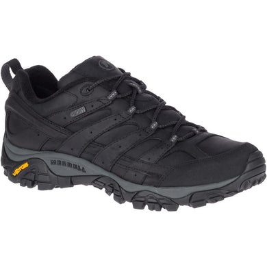 Merrell Men's Moab 2 Prime Waterproof Hiking Shoe in Black from the side