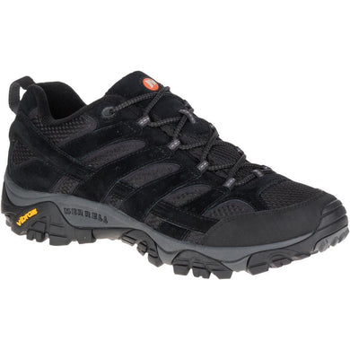 Merrell Men's Moab 2 Vent Hiking Shoe in Black Night from the side