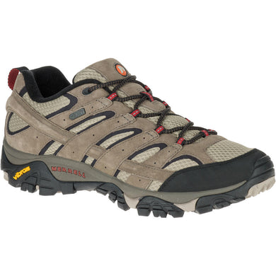 Merrell Men's Moab 2 Waterproof Hiking Shoe in Bark Brown from the side