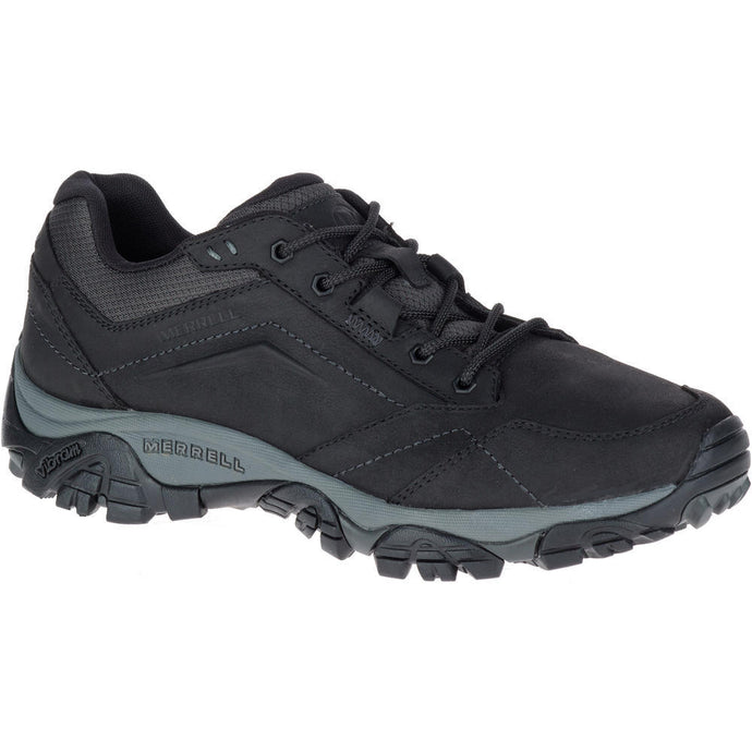 Merrell Men's Moab Adventure Lace Hiking Shoe in Black from the side
