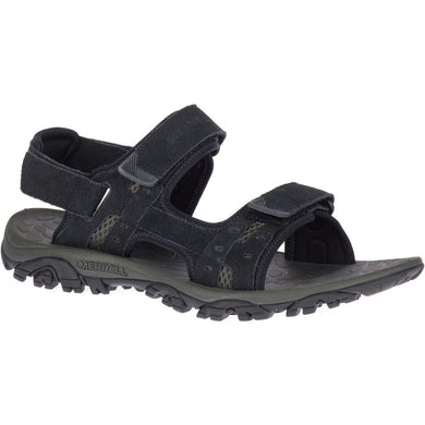 Merrell Men's Moab Drift 2 Strap Sandal in Black from the side