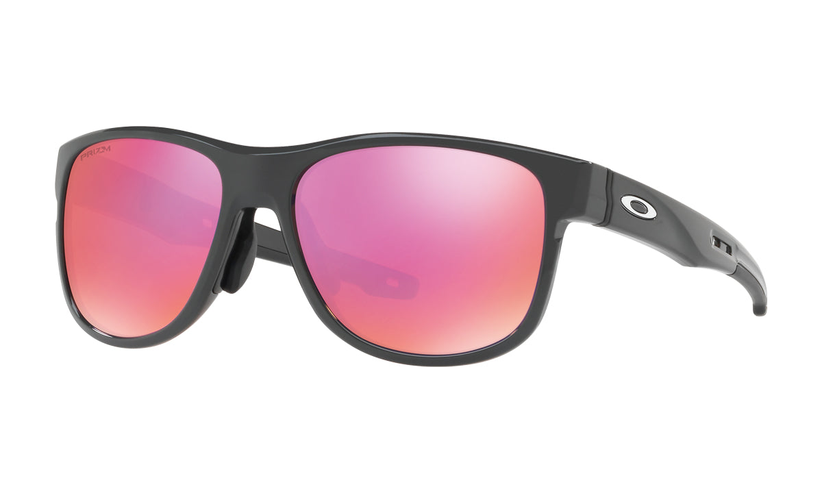 Men's Oakley Crossrange R Asia Fit Sunglasses in Carbon/Prizm Trail from the front view
