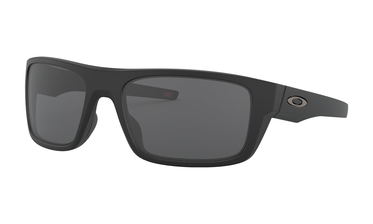 Men's Oakley Drop Point Sunglasses in Matte Black/Grey from the front view