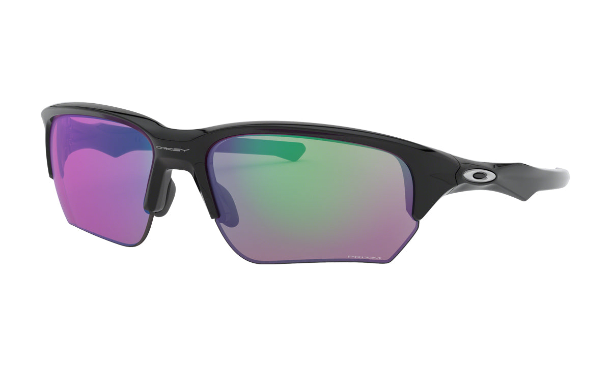 Men's Oakley Flak Beta Asia Fit Sunglasses in Polished Black/Prizm Golf from the front view