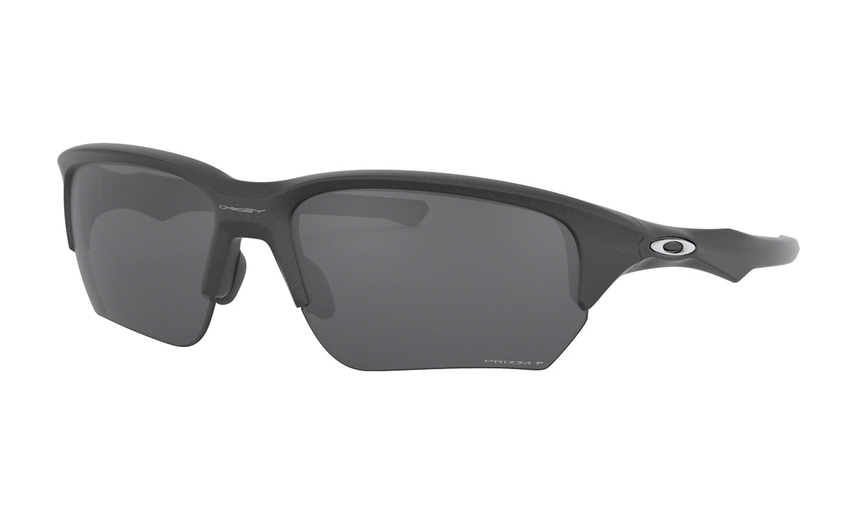 Men's Oakley Flak Beta Asia Fit Sunglasses in Steel/Prizm Black Polarized from the front view