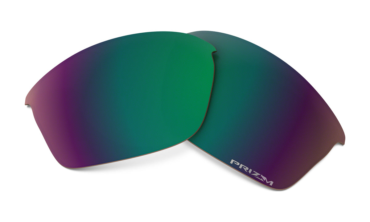 Men's Oakley Flak Jacket Replacement Lens in Prizm Shallow Water Polarized from the front view