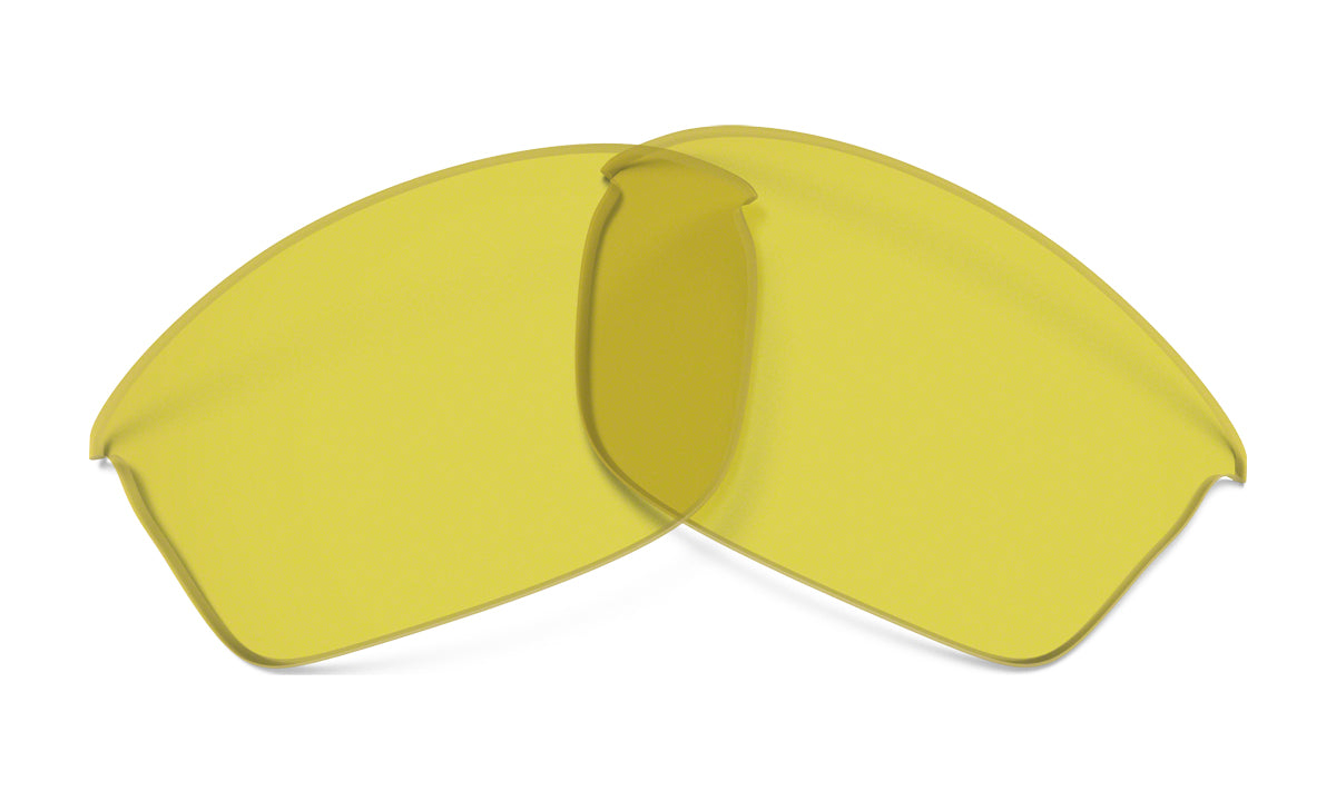 Men's Oakley Flak Jacket Replacement Lens in Yellow from the front view