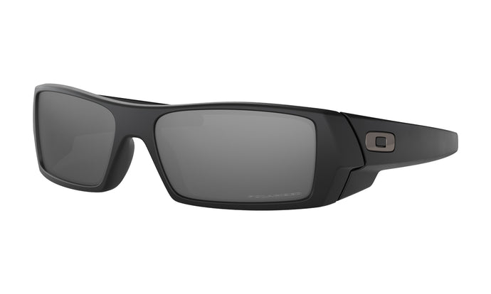 Men's Oakley Gascan Sunglasses in Matte Black/Black Iridium Polarized from the front view