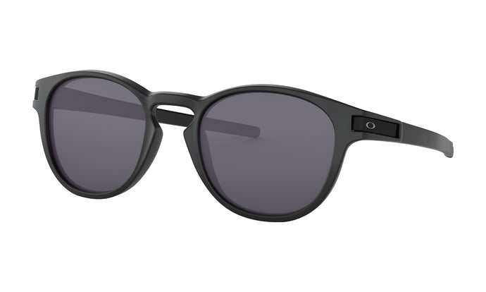Men's Oakley Latch Sunglasses in Matte Black/Grey from the front view