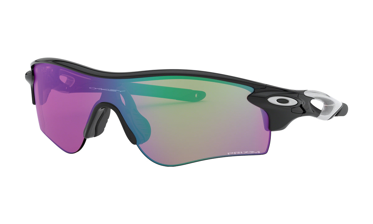 Men's Oakley RadarLock Path Asia Fit Sunglasses in Polished Black/Prizm Golf from the front view