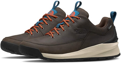 Men's The North Face Back-To-Berkeley Low Waterproof Hiking Shoe in Coffee Brown/TNF Black from the front