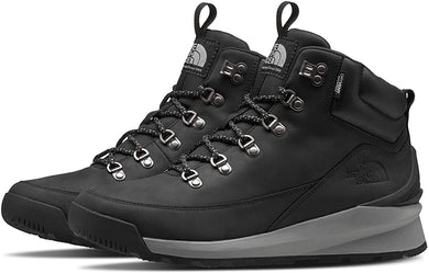Men's The North Face Back-To-Berkeley Mid Waterproof Hiking Boot in TNF Black/Griffin Grey from the front