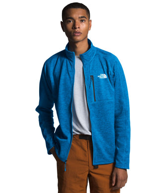 Men's The North Face Canyonlands Full Zip Jacket in Clear Lake Blue Heather from the front view