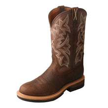 Load image into Gallery viewer, Men's Twisted X Alloy Toe Lite Western Work Boot in Taupe & Brown from the front