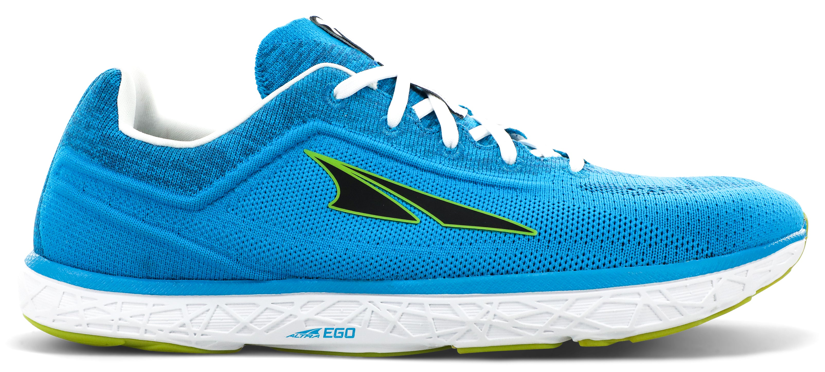 Altra Men's Escalante 2.5 Road Running Shoe in Blue/Lime from the side