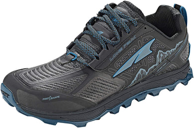 Altra Men's Lone Peak 4 Low RSM Trail Running Shoe in Black/Blue from the side