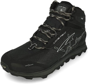 Altra Men's Lone Peak 4 Mid RSM Trail Running Shoe in Black from the side