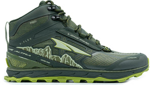 Altra Men's Lone Peak 4 Mid RSM Trail Running Shoe in Deep Forest from the side