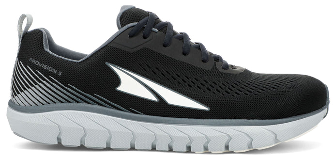 Men's Altra Provision 5 Road Running Shoe in Black/Gray from the side