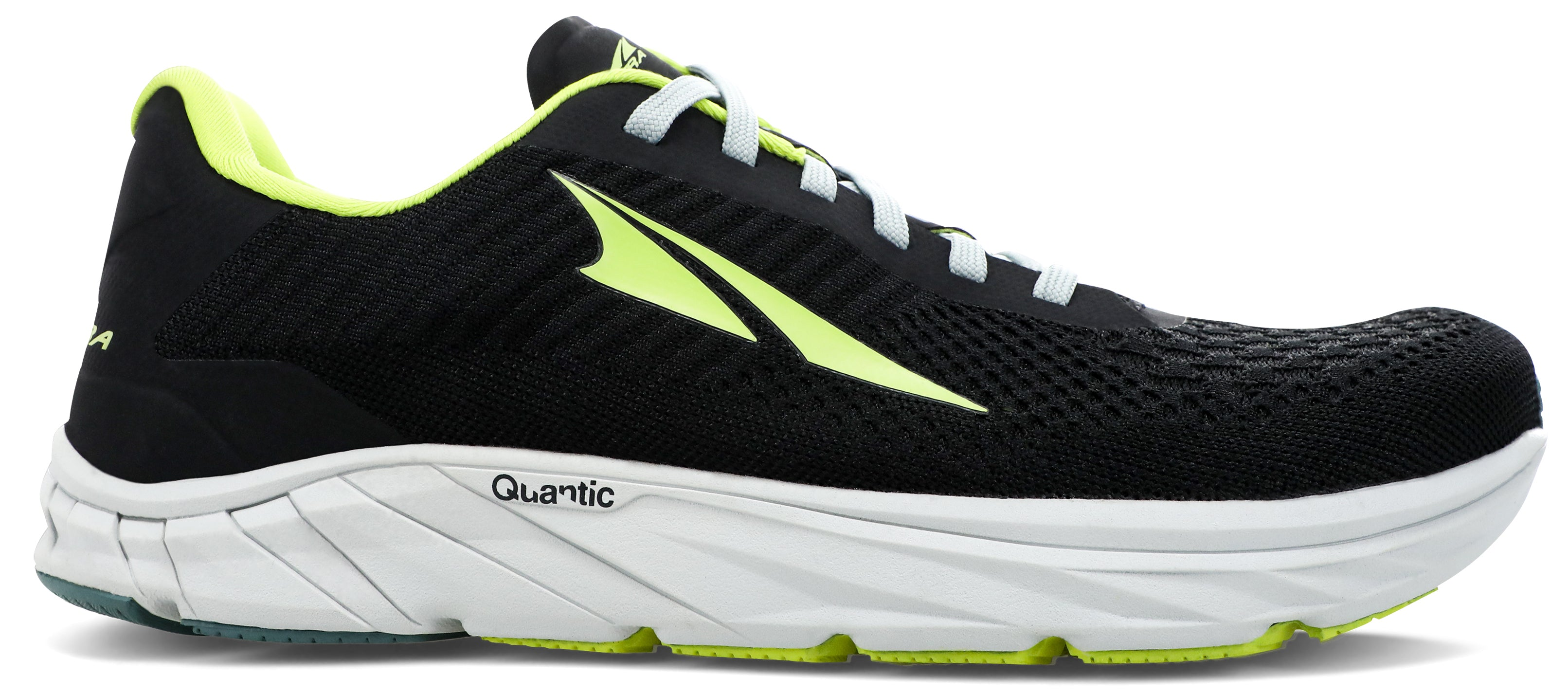 Altra Men's Torin 4.5 Plush Road Running Shoe in Black/Lime from the side