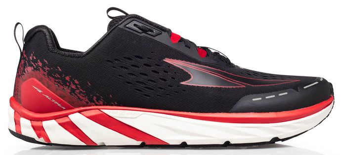 Altra Men's Torin 4 Road Running Shoe in Black/Red from the side
