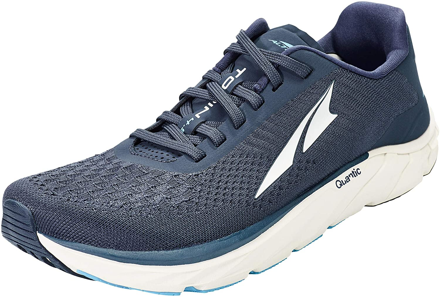 Altra Men's Torin 4.5 Plush Road Running Shoe in Majolica Blue from the side