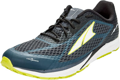 Altra Men's Viho Road Running Shoe in Dark Slate/Lime from the side