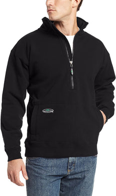 Arborwear Men's Double Thick 1/2 Zip Sweatshirt in Black from the from