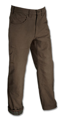 Men's Arborwear Flannel Lined Original Pant in Chestnut from the front view